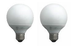TCP CFL 14 Watt (60W) Globe Two-Pack Warm White (2700K)