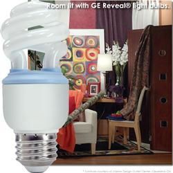GE Reveal® CFL 10 Watt (40W) Spiral Warm White (2500K)