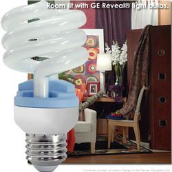 GE Reveal® CFL 13 Watt (60W) Spiral Warm White (2500K)