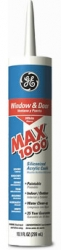 GE Max1000 Siliconized Acrylic Caulk (White)