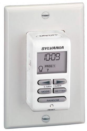 sylvania zip set light switch with digital timer. Black Bedroom Furniture Sets. Home Design Ideas