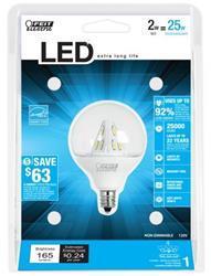 Feit LED 2 Watt (25W) Globe Warm White (3000K)
