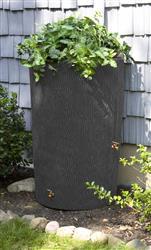 Impressions 90 Gallon Bark Rain Saver- Dark Granite