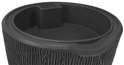 Impressions 90 Gallon Bark Rain Saver- Dark Granite