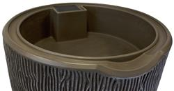 Impressions 90 Gallon Bark Rain Saver- Oak
