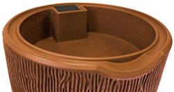 Impressions 90 Gallon Bark Rain Saver- Terra Cotta