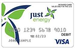 Tarjeta Prepagada Visa de Just Energy