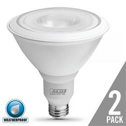 Feit 2 Pack LED16 Watt (90w) Dimmable Weatherproof PAR38 Warm White (3000k)