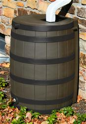 Rain Wizard 50 gallon - Darkened Ribs - Oak