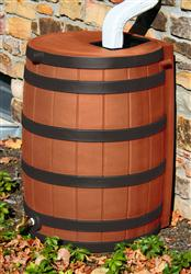 Rain Wizard 50 gallon - Darkened Ribs - Terra Cotta