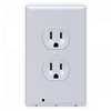 SnapPower Outlet Guidelight 2- White Duplex