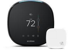 Ecobee4 Alexa Enabled Wi-Fi Thermostat with Remote Sensor