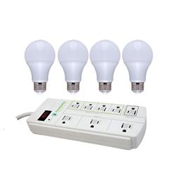 15 watt LED (4 Pack) and Smart Power Strip Bundle