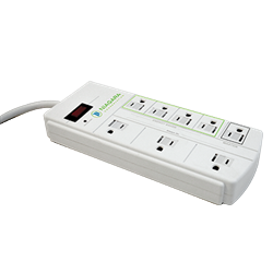 2 Pack - Niagara 8 Outlet Energy Saving Surge Protector