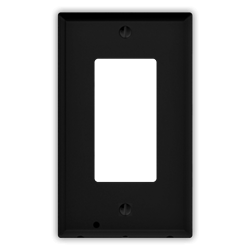 6 Pack - SnapPower Wall Outlet Plate Guidelight - Black Decor