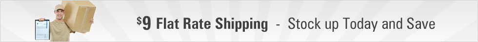 $9 Flat Rate Shipping!